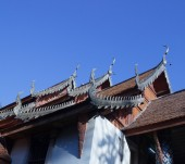 Thai asian temple roof — Foto Stock