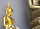 Small golden buddha statue — Stock Photo