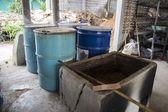 Mushroom sterilization — Stock Photo