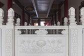 White lotus sculpture banister — Stock Photo