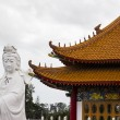 Compassion and mercy goddess statue and pavilion — Stock Photo #64505161