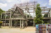Monastero in costruzione — Foto Stock