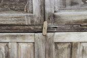Old wood door background — Stock Photo
