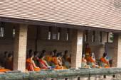 Thailand buddhist Monk learning English — Stock Photo