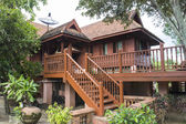 Traditional thailand wooden house — Stock Photo