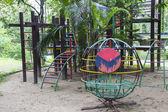 Kid playground in the garden — Stock Photo