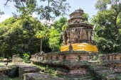 The architecture of ancient pagoda — Stock Photo