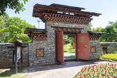 The design of bhutan gateway — Stock Photo