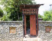 The design of bhutan gateway — Stock Photo