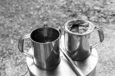 Thailand traditional coffee boiling method — Stockfoto