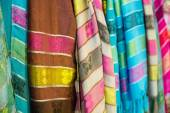 Thailand traditional colorful scarves — Stock Photo