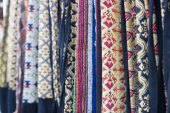 Thailand traditional textile pattern — Stock Photo