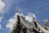 Silver and aluminum asian church — Stock Photo