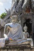 Statue de Bouddha argent — Photo