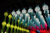 Lanterna di carta decorazione tradizionale di Thailandia — Foto Stock