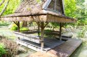 thailand traditional vintage wooden gazebo — Photo
