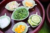 Kaffir lime, curcuma, zingiber, camphor, pandanus — Stock Photo