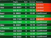 Thailand domestic flight schedule  — Stock Photo