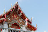 The sculpture on thailand temple gable — Stock Photo