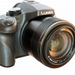 Panasonic Lumix DMC- FZ1000 bridge digital camera isolated on wh — Stock Photo #72983659