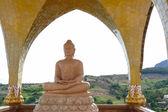 Meditating buddha statue — Stock Photo