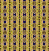 Seamless pattern made from asian traditional bowl lid and yellow — Stock Photo
