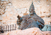 Monument to Papa Luna, in Peniscola Castle, in Valencia, Spain — Stock Photo