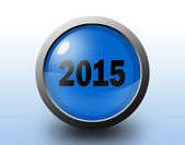 New year 2015 icon. Circular glossy button. — Stock Photo