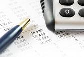 Informe financiero. — Foto de Stock