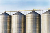 Industrial silo towers. — Stock Photo