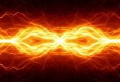 Fiery lightning — Stock Photo