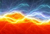 Fire and ice abstract lightning background — Stock Photo