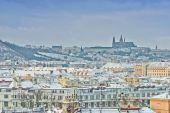 Prague castle in the winter — Zdjęcie stockowe