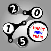 Happy new year 2015 - created as industrial wishes — Stock Vector