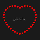 Valentines card with small red hearts and text — Vetorial Stock