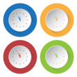 Set of four icons - with clock — Stock Vector #71357287