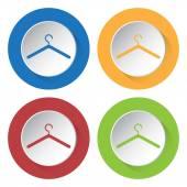 Av fyra ikoner med hängare — Stockvektor