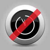 Gray chrome button - no clock — Stock Vector