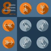 Set of eight icons with arrows — Stock Vector