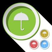 Color icons with umbrella — ストックベクタ