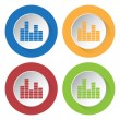 Set of four icons - equalizer — Stock Vector #79293206
