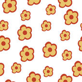 Vector pattern with flowers — Stock Vector