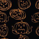 Vector pattern of pumpkins for Halloween — Stock Vector