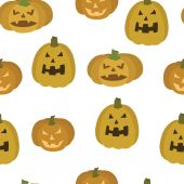 Vector pattern of pumpkins for Halloween — Wektor stockowy