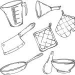 Постер, плакат: Vector illustration of various kitchen items