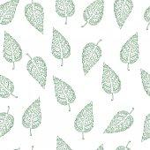用树叶矢量花纹 — 图库矢量图片