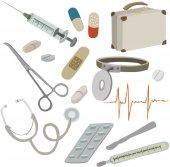Vector illustration of medical supplies — Stock Vector