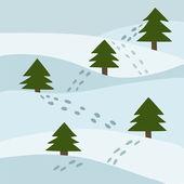 Vector illustration of a winter landscape — Stock Vector