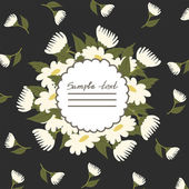 Vector picture with daisies — Vettoriale Stock