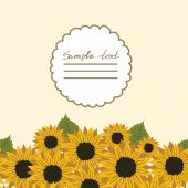 Vector picture with flowers sunflower — Stock Vector